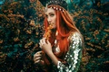 Picture decoration, flowering, the red-haired girl, Bella Kotak, The Tempest