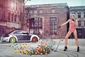 Picture balls, Leonie Hagmeyer-Ratings, Volkswagen Beetle, sexy, blonde, beauty, April, Miss Tuning 2014, Leonie Hagmeyer-Rainger, Miss ...