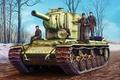 Picture war, art, painting, tank, ww2, Pz.Kpfw KV-2 754(r)