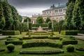 Picture Park, garden, columns, Austria, Vienna, monument, Hofburg Palace, The people's garden, Empress Elizabeth Monument, the ...