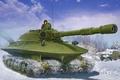 Picture painting, tank, Soviet Heavy Tank OBJECT 279, war, art