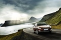 Picture road, auto, the sky, clouds, lake, rocks, speed, highway, car, Peugeot 508 RXH