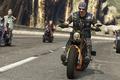 Picture game, motorcycle, mountains, GTA, tattoo, asphalt, vegetation, mustache, dangerous, GTA Online, sun glasses, bandana, motorcycles, ...