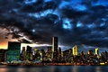 Picture clouds, skyscrapers, new York