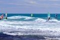 Picture sea, Windsurfing, wave, Board, the wind, sail