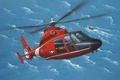 Picture art, painting, Eurocopter AS365 Dauphin, helicopter.aviation