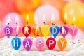 Picture candles, happy birthday, happy birthday