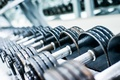 Picture dumbbells, gym, metal
