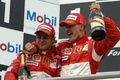 Picture race, podium, Schumacher