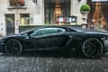Picture puddle, aventador, drives, supercar, rain, Lambo, Lamborghini Aventador, water, black, weather, lambo