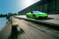 Picture Lamborghini, Lamborghini, supercar, Spyder, Novitec, speed, Torado, in motion, car, green, auto, Huracan