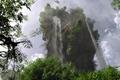 Picture trees, landscape, nature, rock, foliage, mountain, waterfall, art, klontak