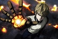 Picture spark, hero, arm, powerful, withe hair, Geno, cyborg, combat, oriental, One Punch Man, asiatic, asian, ...