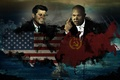 Picture Fitzgerald, Secretary, flags, CPSU, Khrushchev, S., John, Kennedy, conflict, country, first, President, Nikita, USA