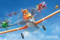 Picture cartoon, wings, Bulldog, flight, adventure, Cars, rally, wings, Cars, Walt Disney, animation, action, Walt Disney, ...