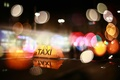 Picture lights, taxi, night