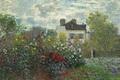 Picture Claude Monet, picture, landscape, The garden of Monet at Argenteuil