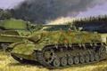 Picture tank, ww2, Jagdpanzer IV L/48, painting, war, art