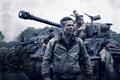 Picture Brad Pitt, Action, Men, Wallpaper, War, Tank, Shia LaBeouf, Travis, Year, Garcia, Movie, Film, 2014, ...