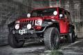 Picture jeep, SUV, Jeep Wrangler, the front, Rubicon, hangar