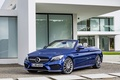 Picture Mercedes-Benz, A205, AMG, Cabriolet, convertible, C-Class, Mercedes, blue, AMG