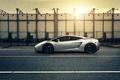 Picture auto, Lamborghini gallardo, sunset