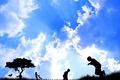 Picture vector, Children, the sky
