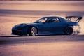 Picture rx7, drift, blue, mazda, Mazda, side, drift