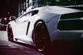 Picture Street, Lamborghini Aventador, Vintage, White Monster, Lamborghini Aventador