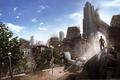 Picture Apocalypse, ruins, i am alive, destruction, the city, Man