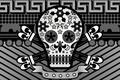 Picture style, sake, background, skull
