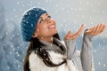 Picture winter, snow, people, hat, Girl, beauty, girl, hat, winter, snow, people, beauty