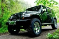 Picture road, forest, Jeep, car, Wrangler, Jeep, trees., high, patency, all-wheel drive, 4-D, Rangler