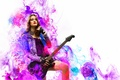 Picture guitar, girl, rock, music