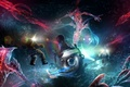 Picture lights, Underwater world, divers, creatures, bathyscaphe