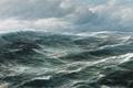 Picture the seascape, landscape, hugo schnars alquist, the wind, clouds, wave, sea