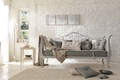 Picture sofa, interior, brick, forging, country