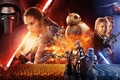 Picture Daisy Ridley, poster, Harrison Ford, stormtroopers, characters, Star wars: the force awakens, John Boyega, John ...