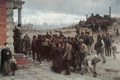 Picture factory, employer, workers, childs, labours, the gray sky, XIX, strike, Robert Koehler, 1880, Marx and ...