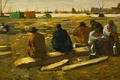 Picture landscape, picture, Georg Hendrik Breitner, genre, Lunch during the Excavations