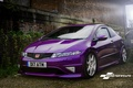 Picture Civic, wrap, dark, Type, purple, Honda, Gloss