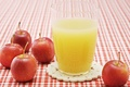 Picture tablecloth, Apple, glass, juice