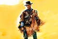 Picture Gun, Hat, Clint Eastwood, Clint Eastwood, A Fistful Of Dollars, A fistful of dollars