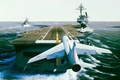 Picture carrier, Vought A-7 Corsair, USS America