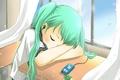 Picture girl, form, Hatsune Miku, sleeping, Vocaloid, headphones, anime
