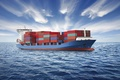 Picture sea, clouds, ship, a container ship, oceandemo