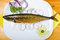 Picture lemon, plate, onion, food, seafood, photo, fish, lime