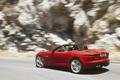 Picture movement, turn, Jaguar, convertible, side view, red, jaguar, f-type