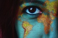 Picture girl, eyes, map