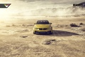 Picture BMW, Car, Front, Vorsteiner, Yellow, Pirelli, Wheels, Desert, 2015, Skid, GTRS4